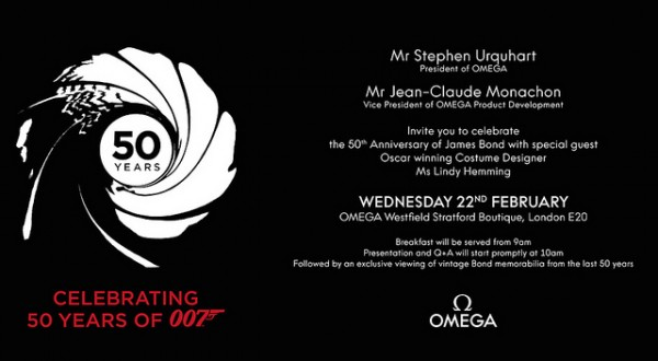 Omega x James Bond in London