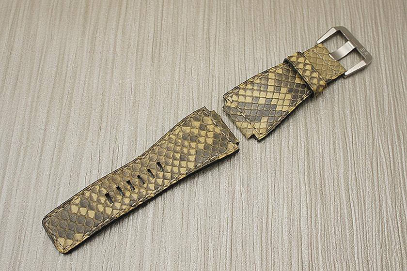 Cuir De En Bracelets Guide Montre SerpentPythonCobra Des Et CBdxore