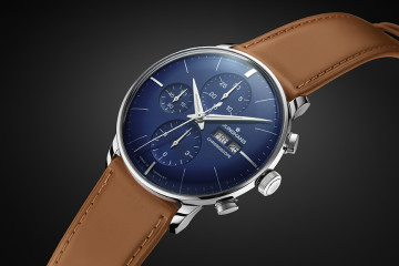 Junghans - Meister Chronoscope Blue Dial & Leather Strap