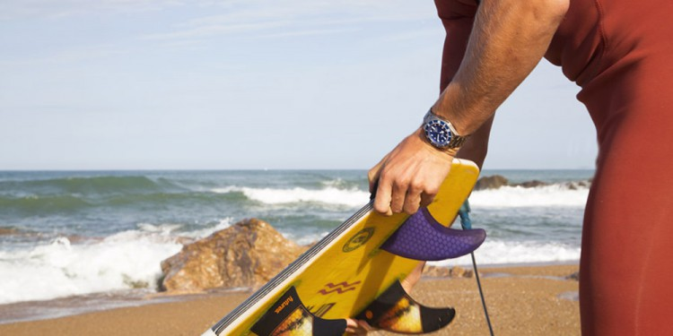 Surfing with the new TUDOR Pelagos