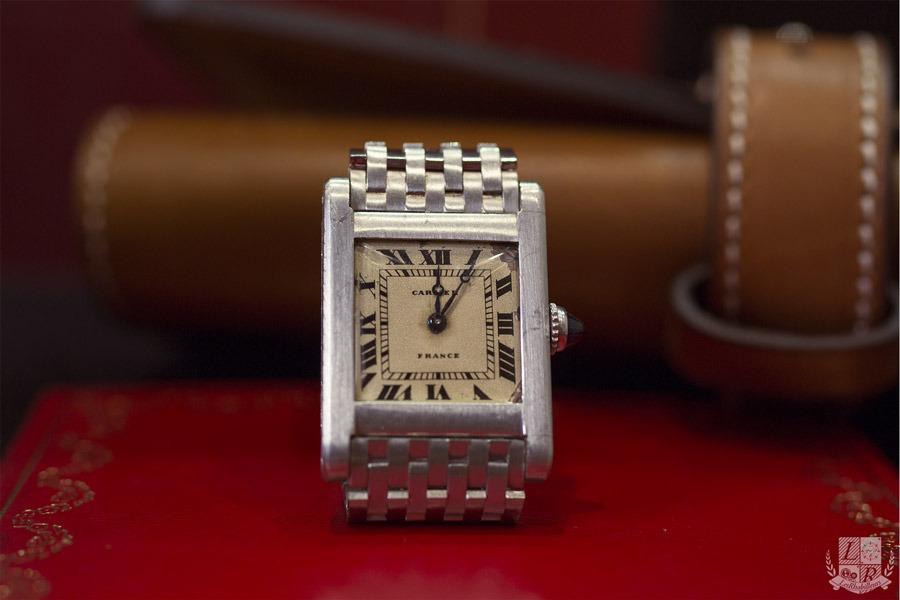 Cartier - Tank 9 lignes Platine 1920