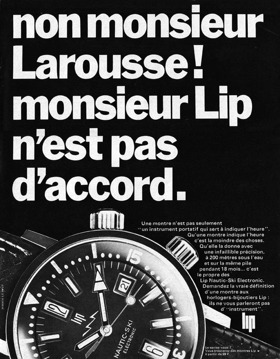 Publicité LIP Nautic Ski 1967