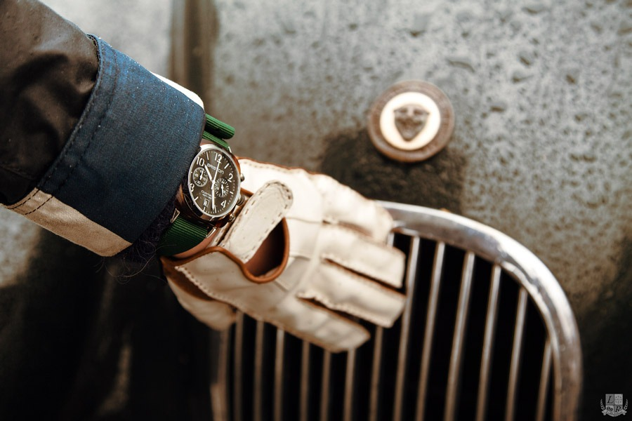 Briston Clubmaster Chrono - British Green - Focus Jaguar