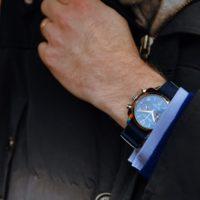 Briston Clubmaster Chrono - French blue - wrist