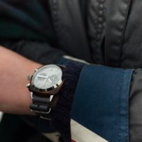 Briston Clubmaster Chrono - German silver - Look