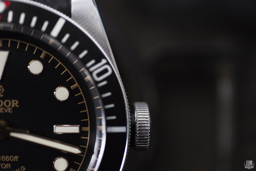 Tudor Black Bay Black - Focus Couronne