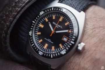 William L 70s style Diver - Focus
