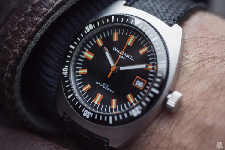 William L 70s style Diver - Focus