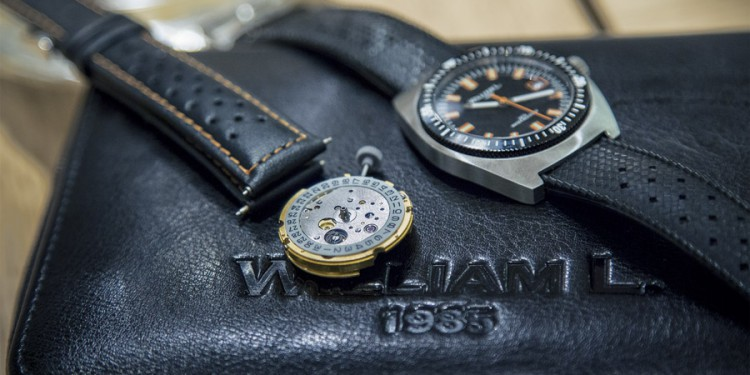 William L 70s style Diver - Mouvement
