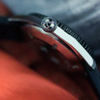 Oris Diver 65 - couronne détail
