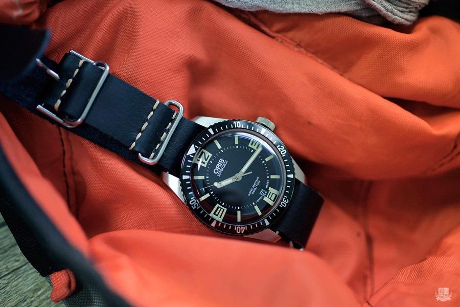 Oris Diver 65 - Nato cuir