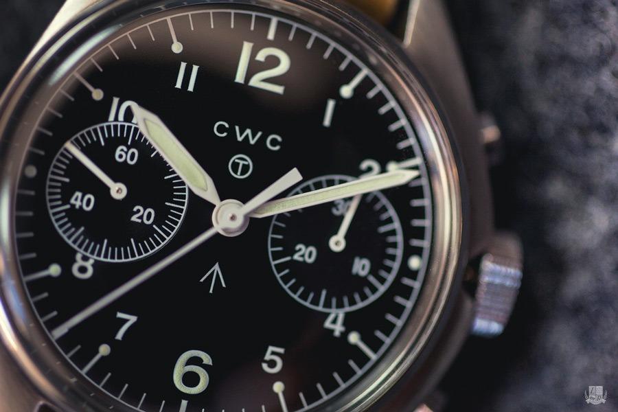 CWC 1970 Chronograph - Cadran focus