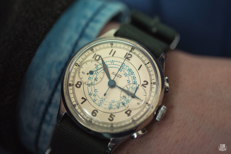 Vintage Tissot Chronograph - wrist