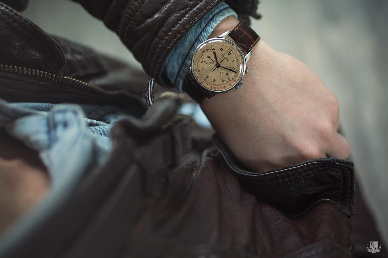 Marvin 1950s Chronograph - wrist