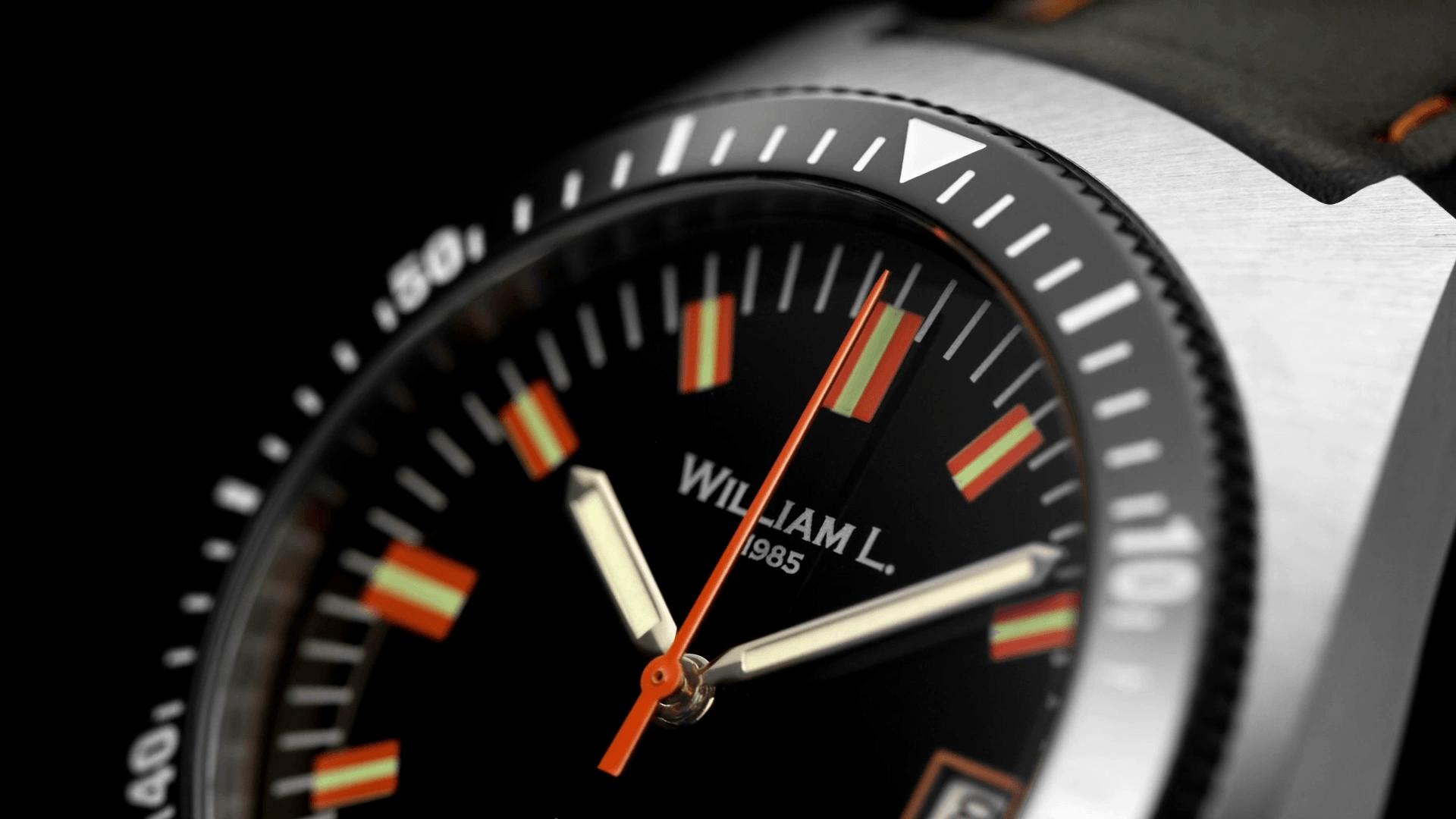 William L Automatic Diver caseAutomatic Vintage Diver 70's - Dial