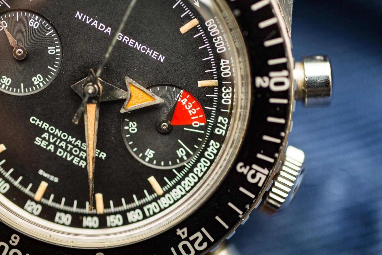 Nivada Grenchen Chronomaster Aviator Sea Diver Chronograph