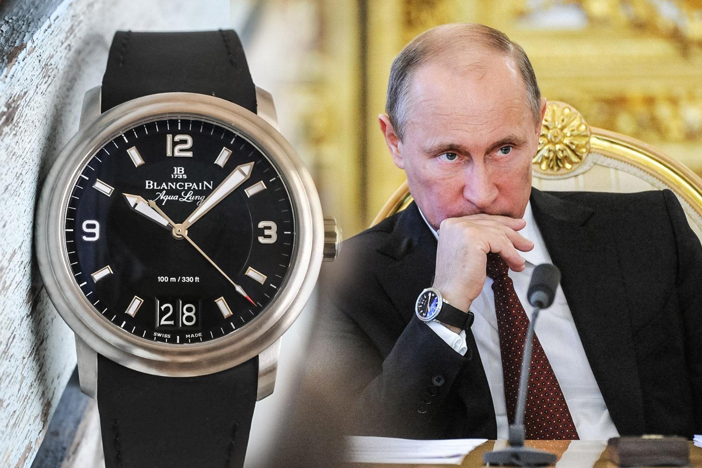 Vladimir Poutine et sa Blancpain Aqua Lung