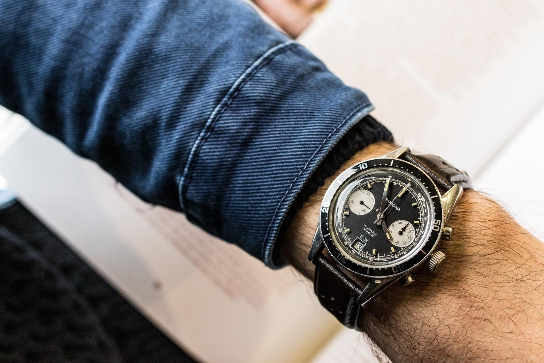 Montres Yema - Vintage Ramona reverse panda chronograph