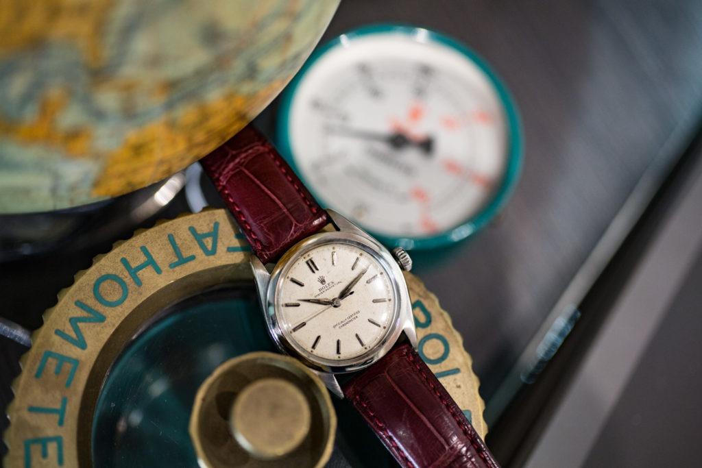 "Rolex Oyster Perpetual ""Semi-Bubble"" 6084 de 1953"