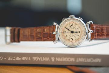 Hermès, Chronographe en acier - Circa 1930