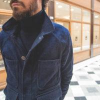 """Glasscove Paris - Veste """"Indigo Wool Chore Jacket"""" d'Apolis"""