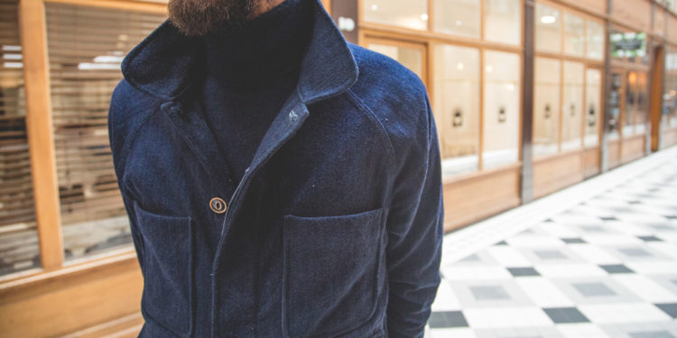 "Glasscove Paris - Veste ""Indigo Wool Chore Jacket"" d'Apolis"