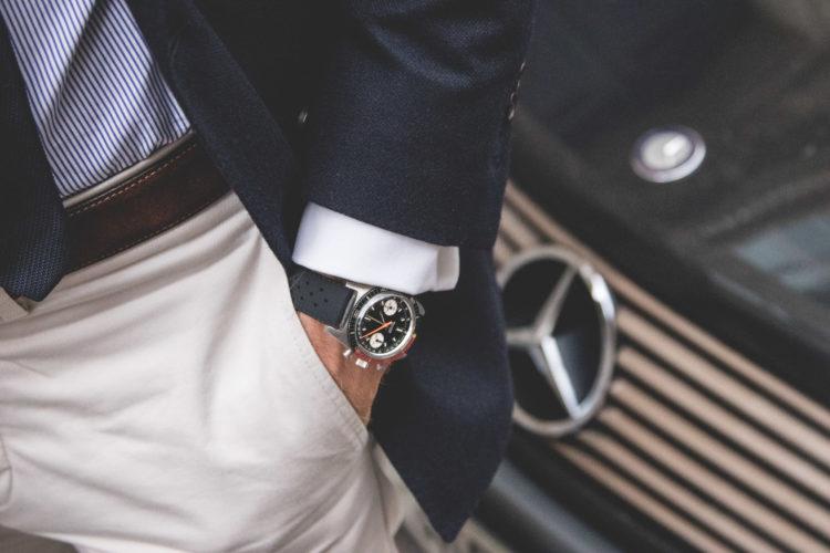 Portrait - Benjamin et son chronographe Bulova