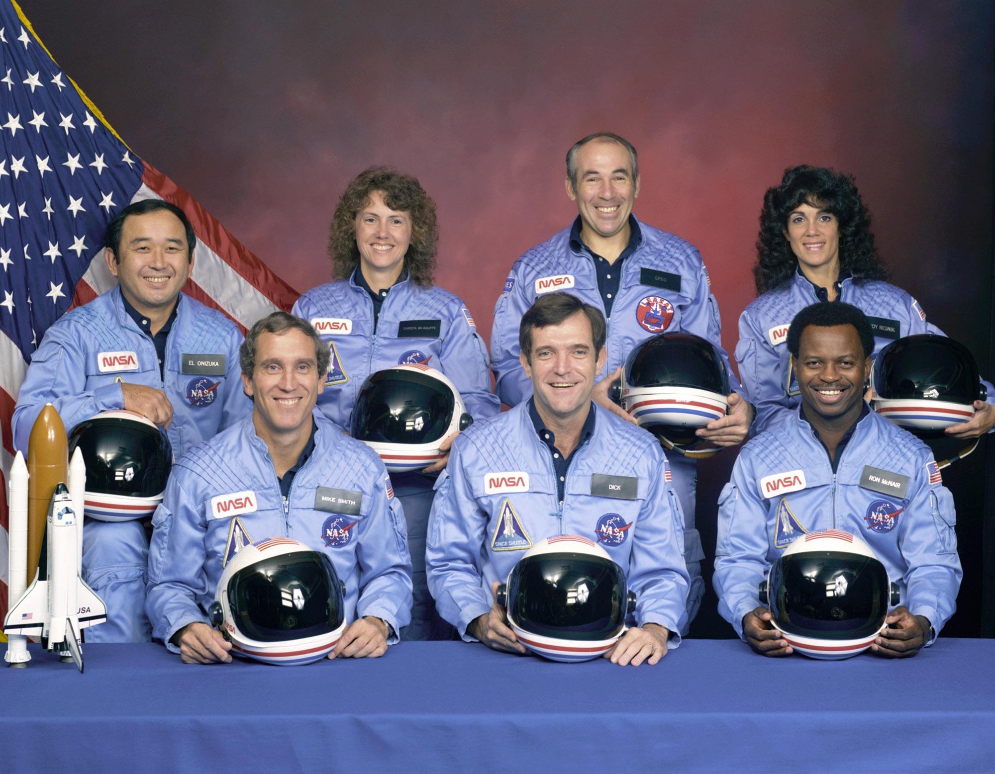 L'équipage de la navette Challenger