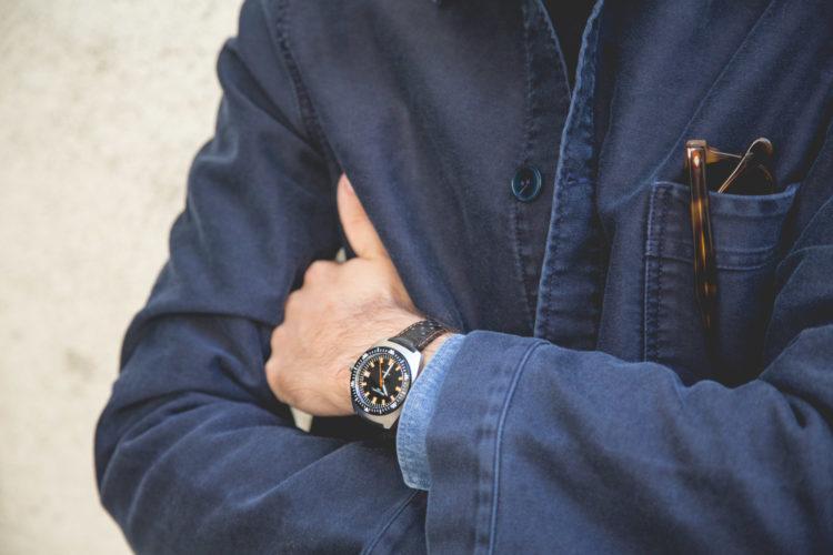Véritable veste de travail en moleskine de coton Le Mont Saint-Michel - Diver de William L. 1985