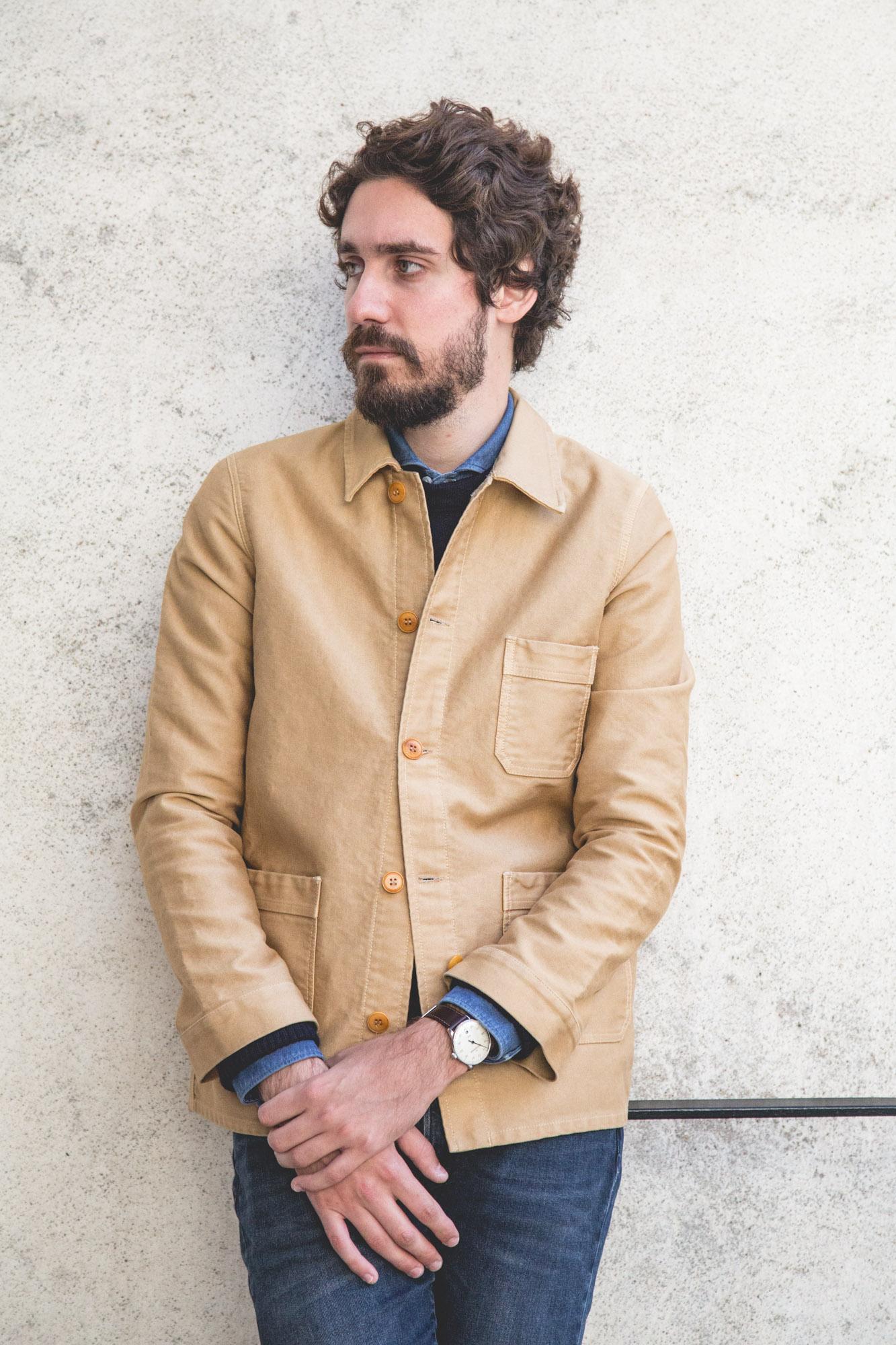 Véritable veste de travail en moleskine de coton Le Mont Saint-Michel - MeisterSinger Néo Plus