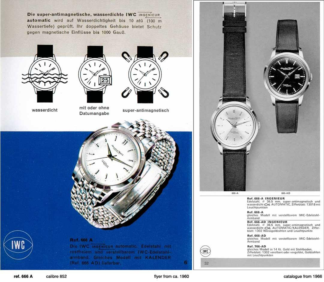 IWC Ingénieur Ref 666 - Publicité d'époque