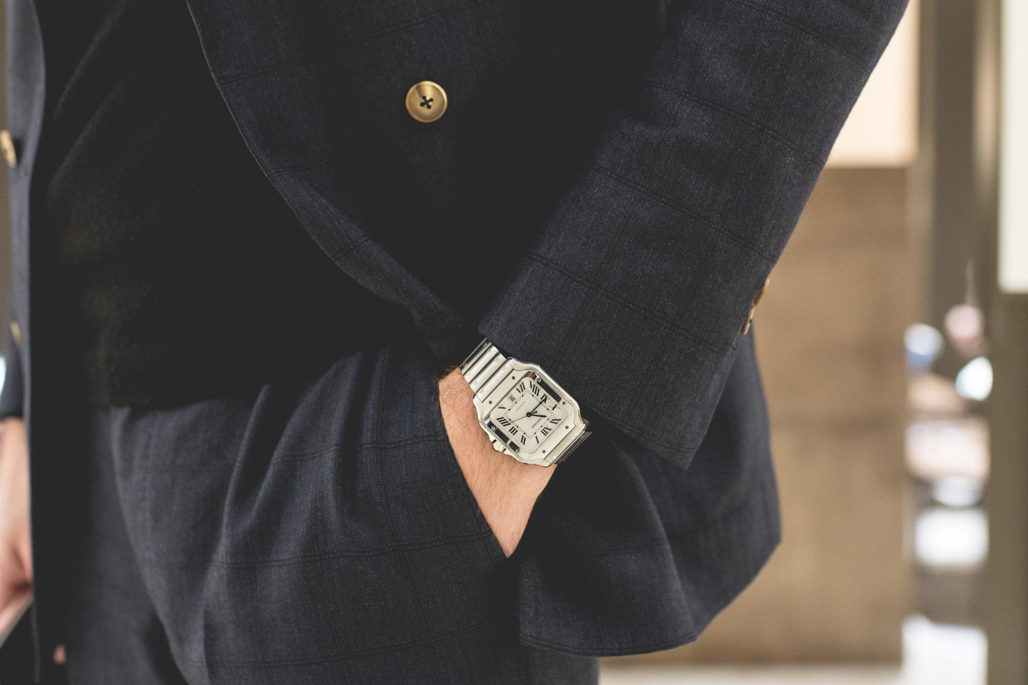Cartier SIHH 2018 - Santos acier - Wrist