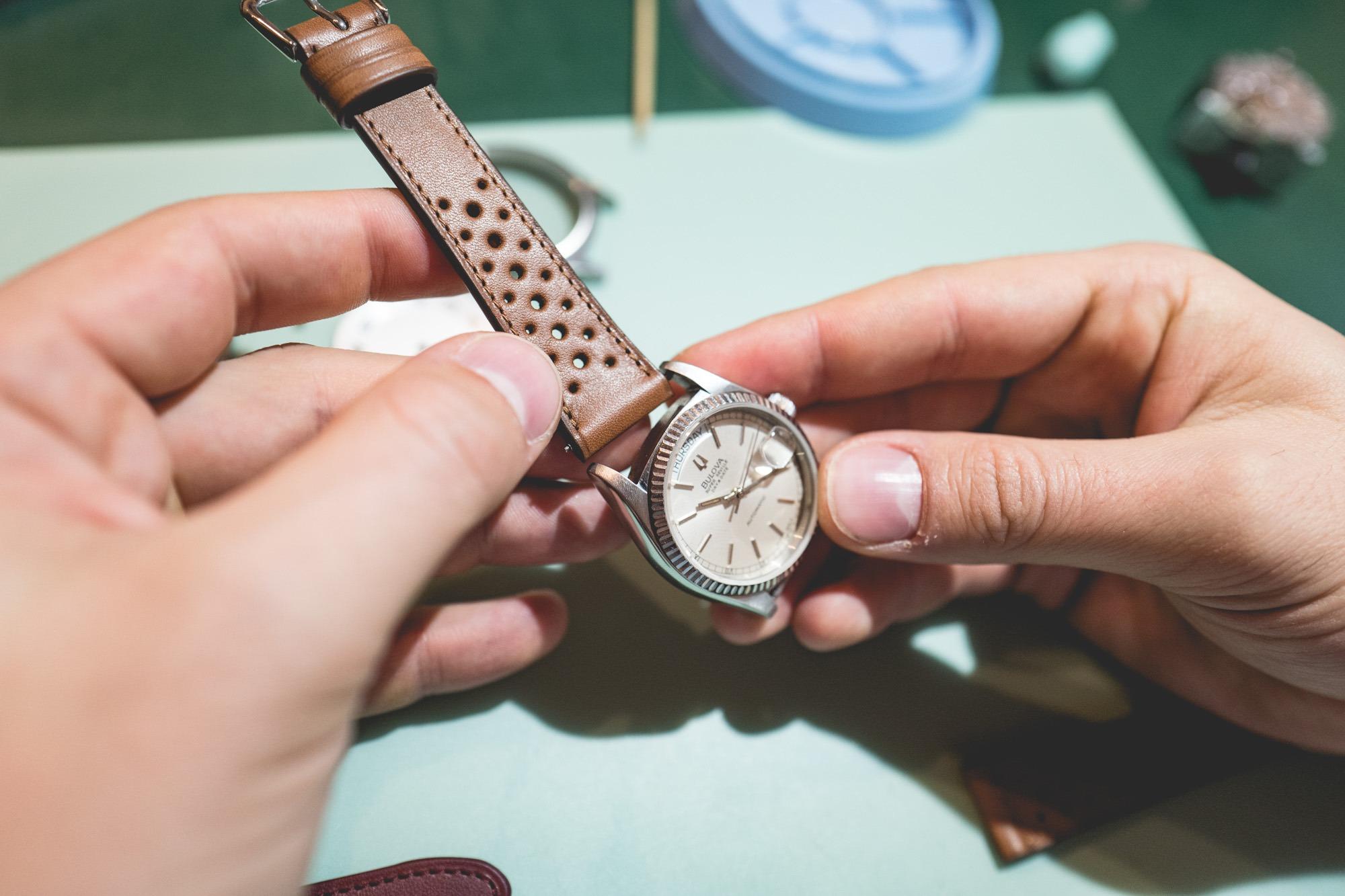 Cours d'horlogerie - Bracelet Rallye marron