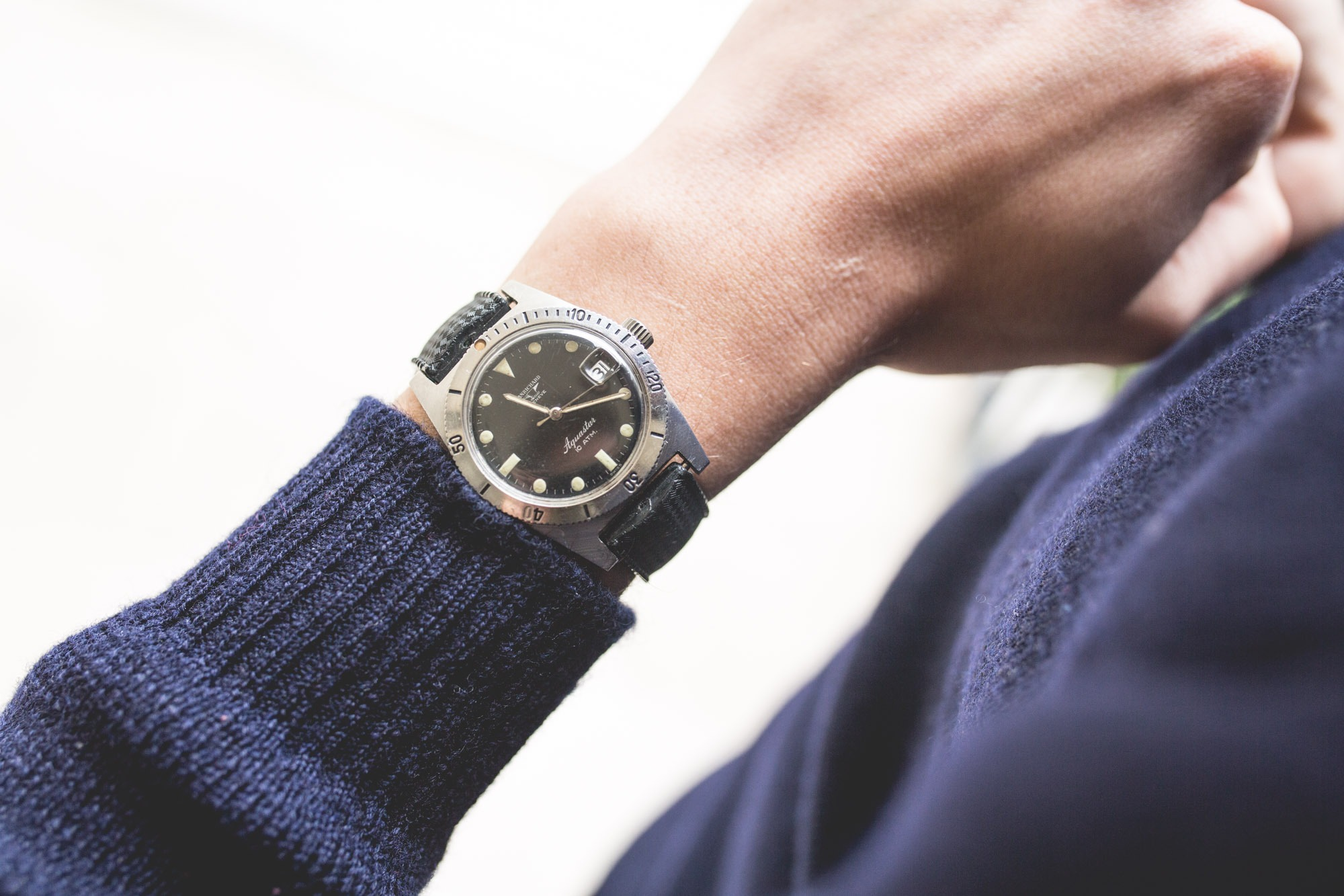 JeanRichard Aquastar - wrist focus