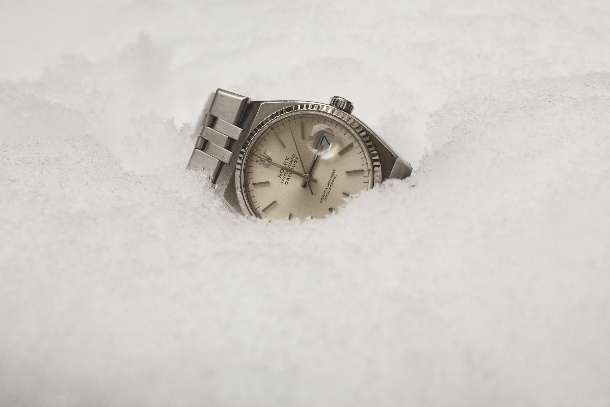 Rolex Oysterquartz - Datejust 17014 - focus