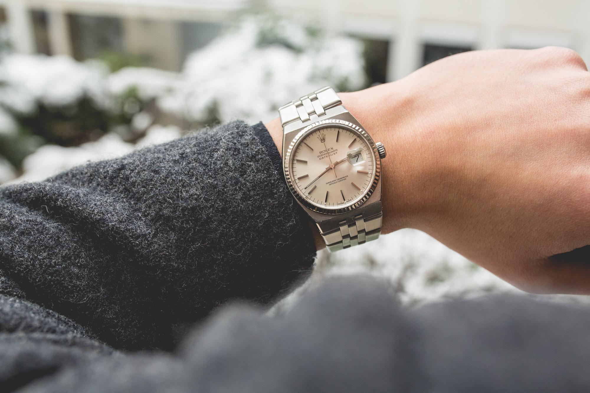 Rolex Oysterquartz - Datejust 17014 - porte