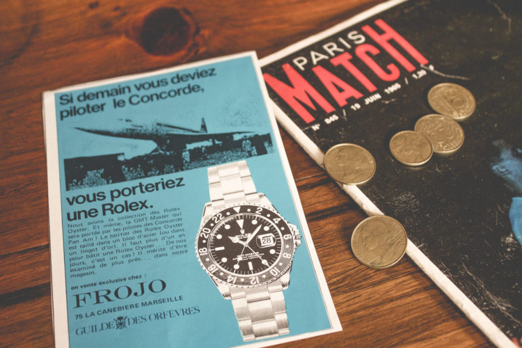 Marketing Horloger - Publicité ancienne Rolex GMT Master