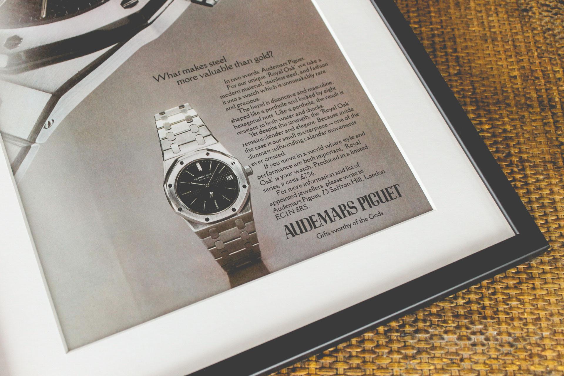 Marketing Horloger - Publicité ancienne Audemars Piguet Royal Oak