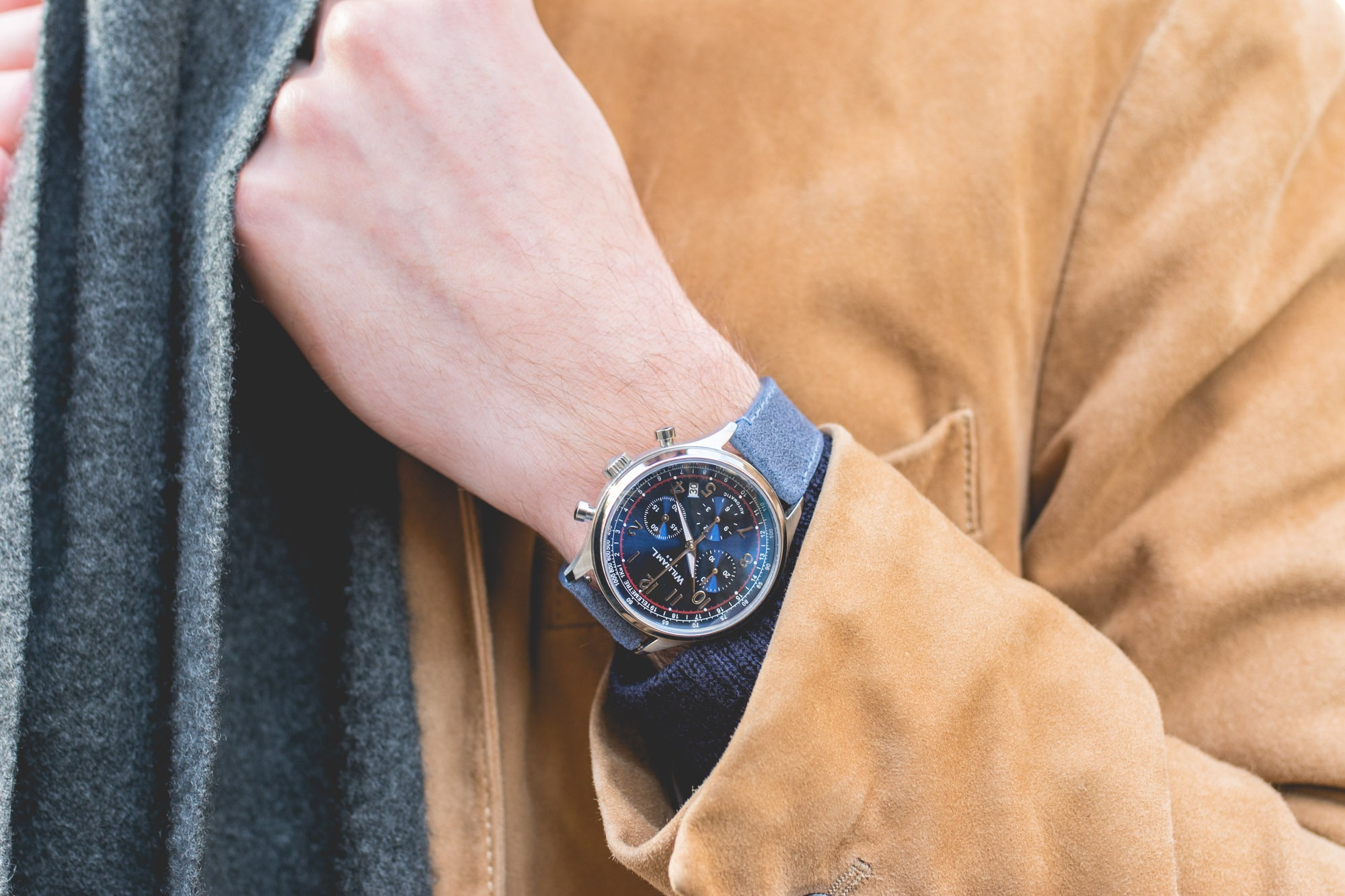 William L. 1985 Automatic Chronograph- Cadran Bleu
