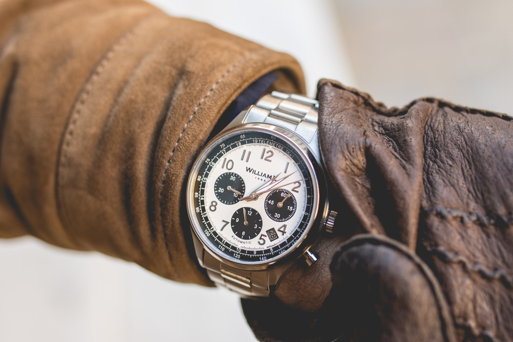 William L. 1985 Automatic Chronograph- Cadran Panda
