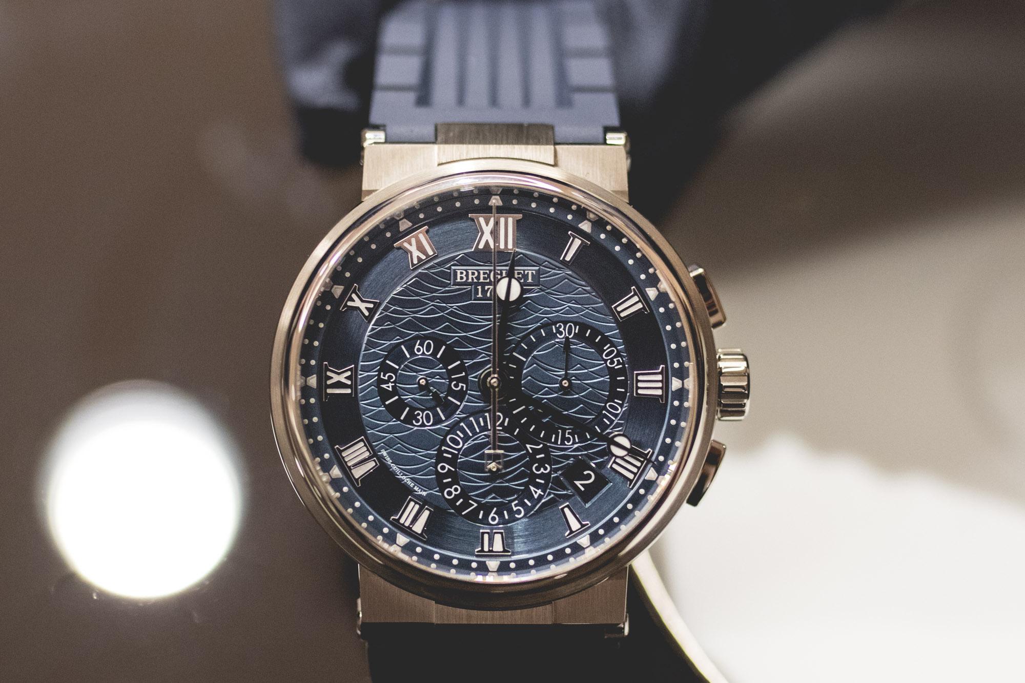 Baselworld 2018 - Breguet Marine Chronographe 5527 Cadran