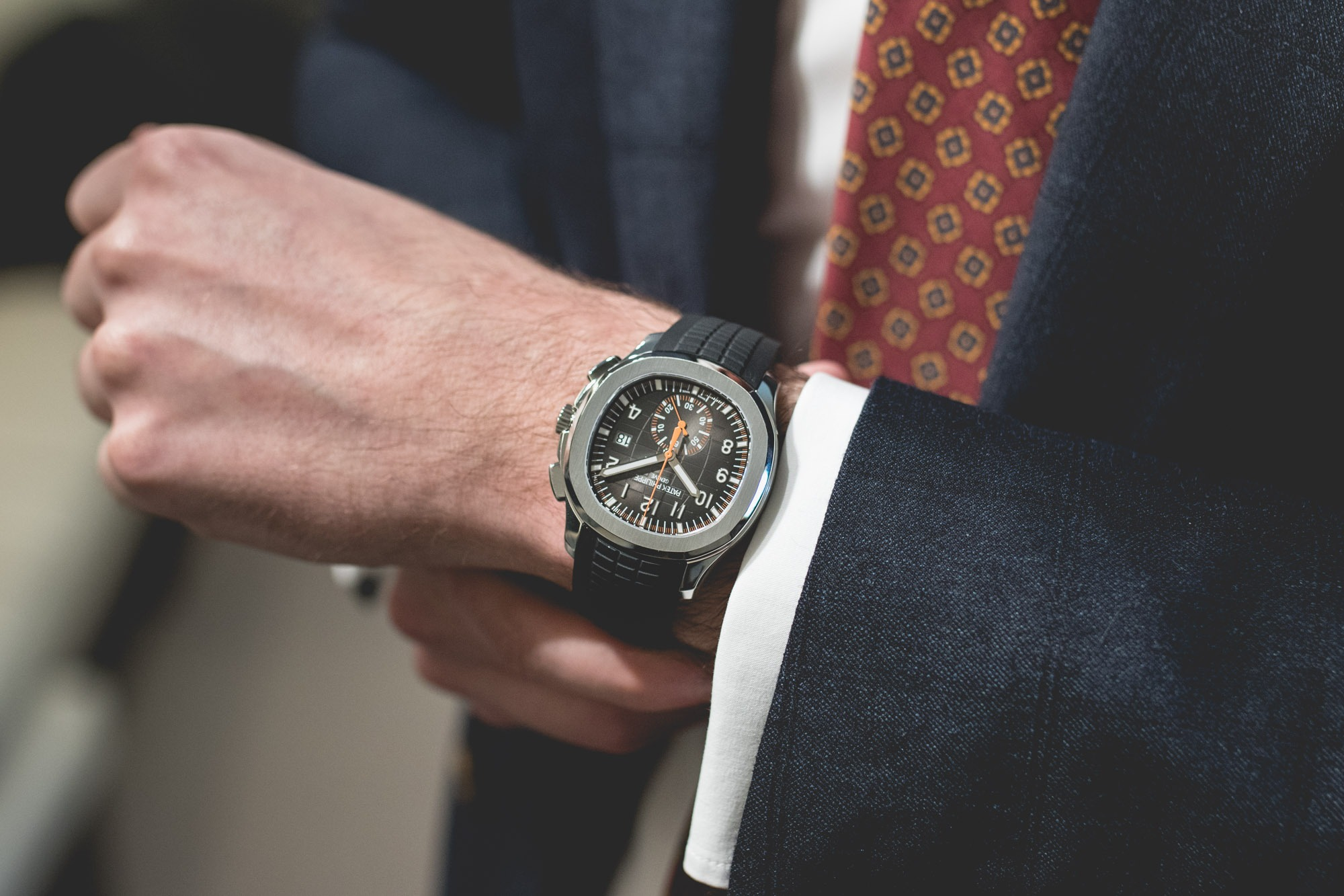 Baselworld 2018 : Patek Philippe Aquanaut Chronopgraph Wrist