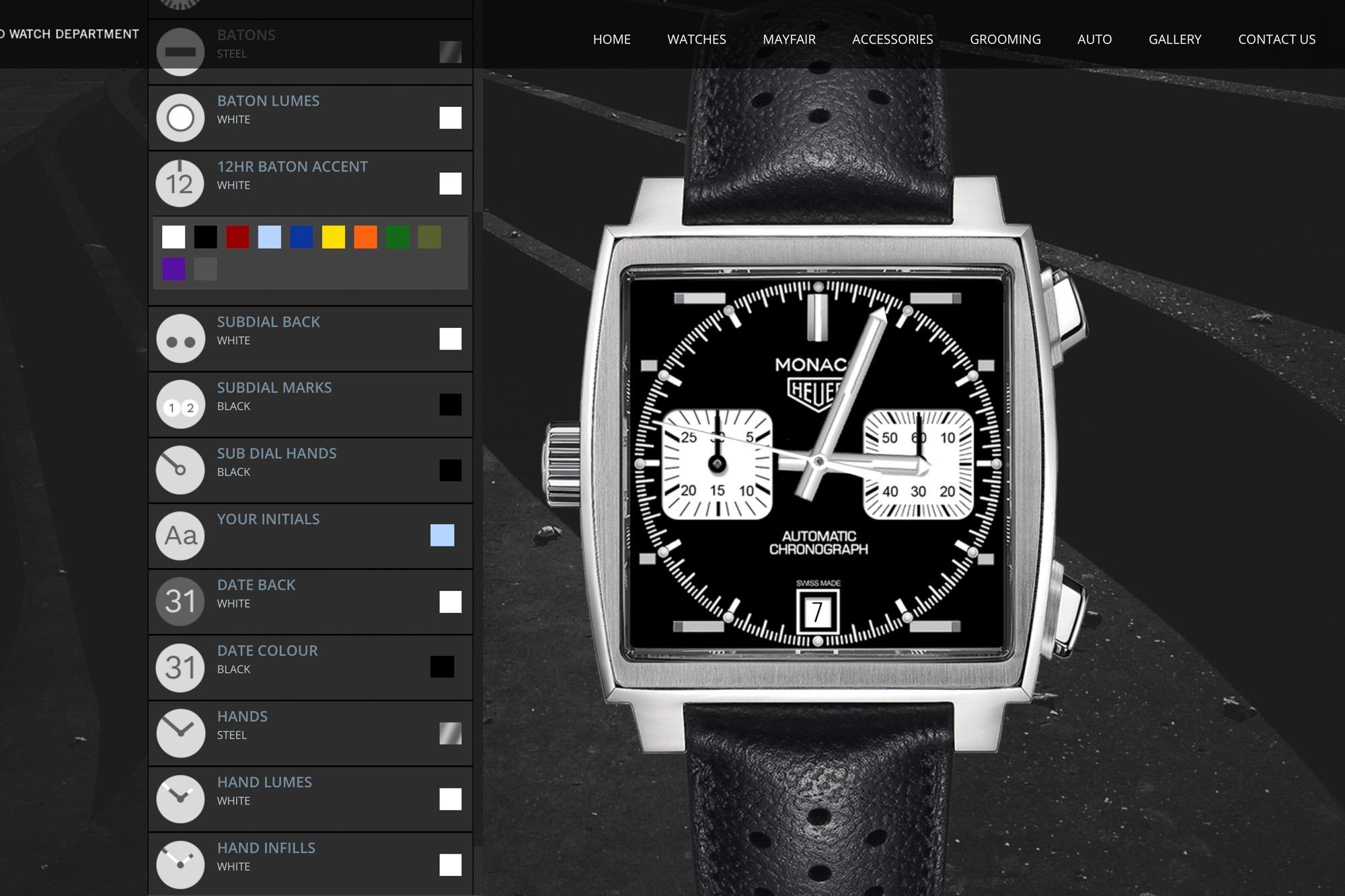 Tag Heuer Monaco -Bamford - Personnalisation de montres BWD