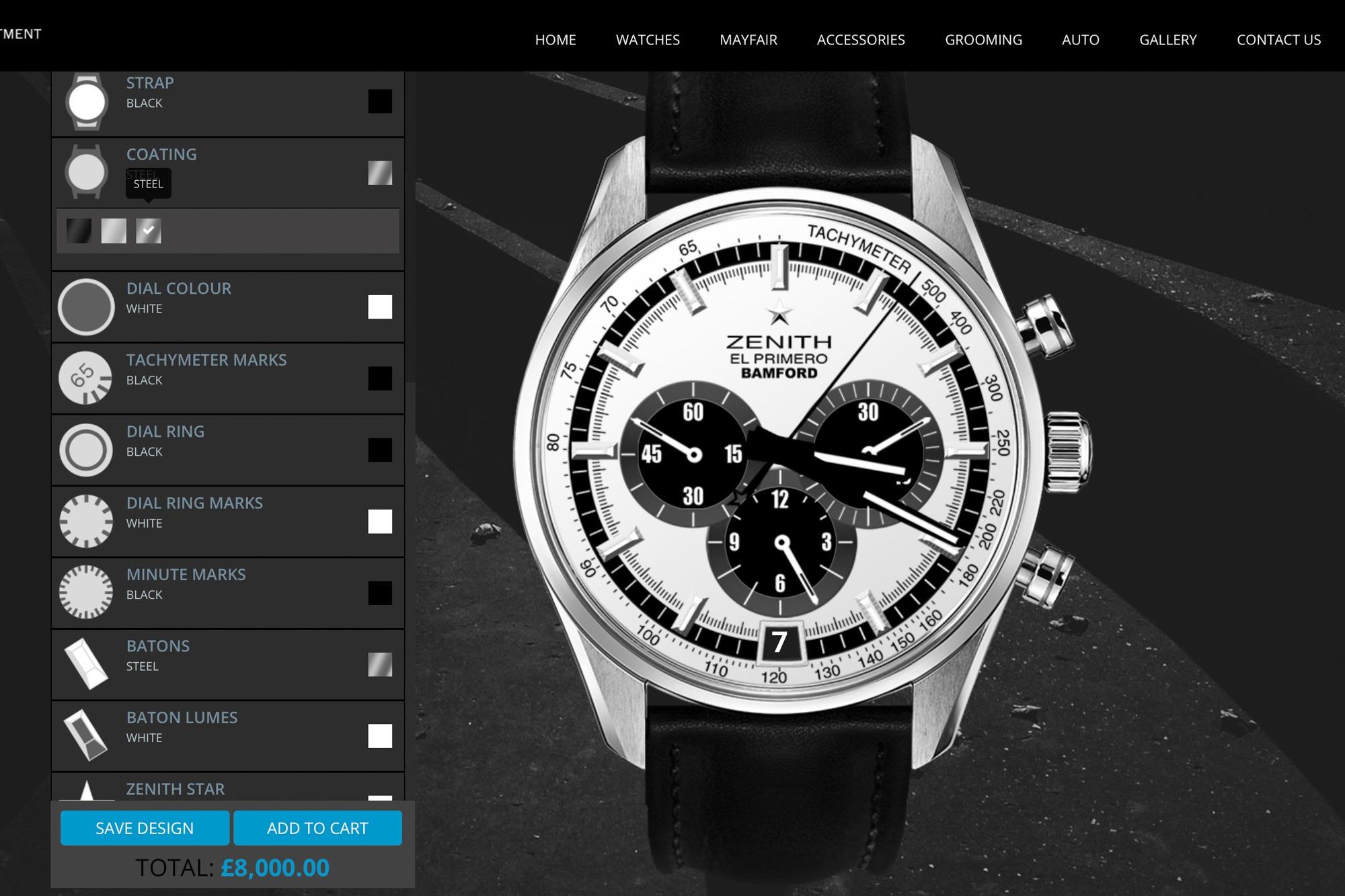 Zenith -Bamford - Personnalisation de montres BWD