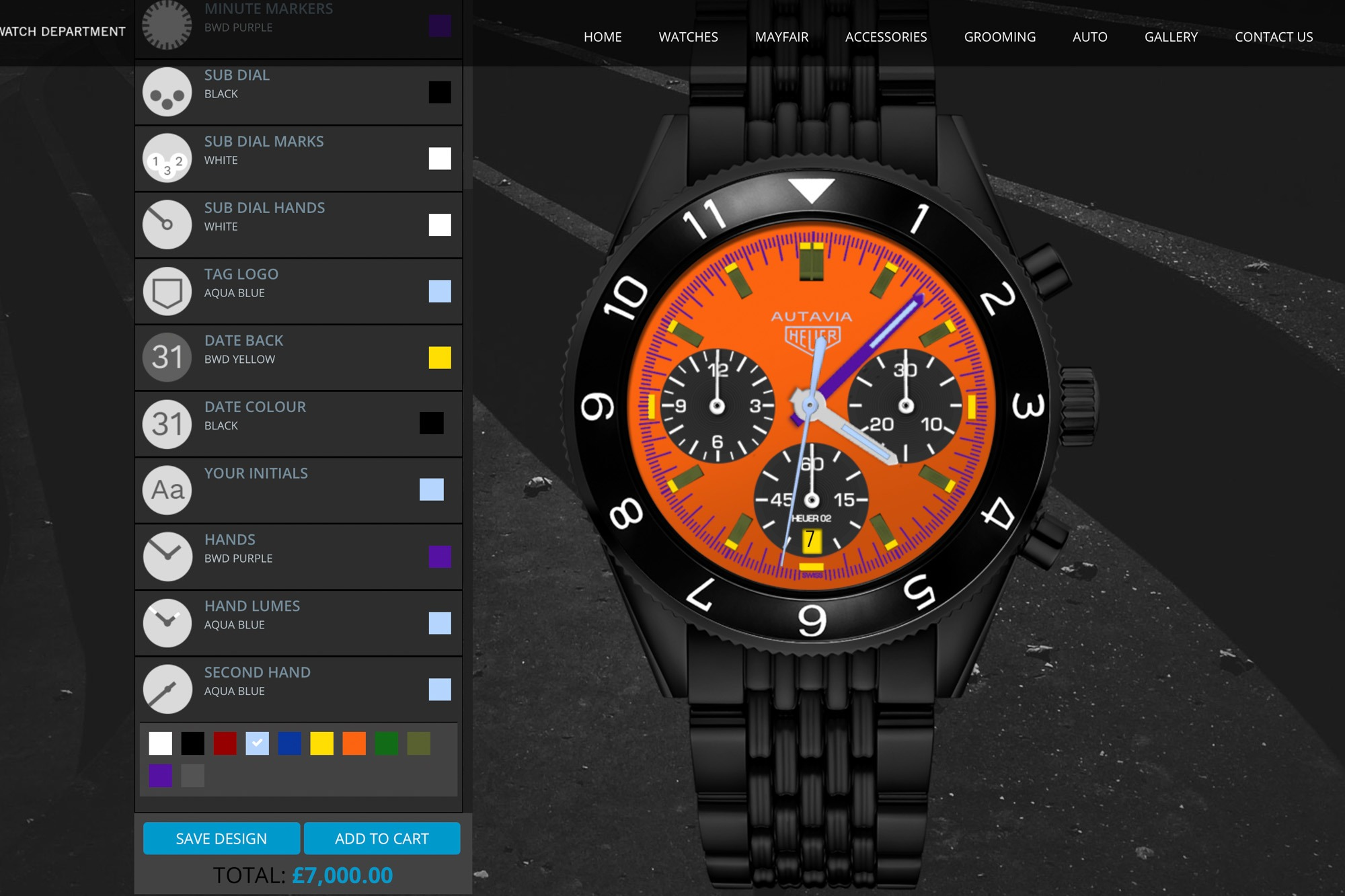 Tag Heuer Autavia - Bamford - Personnalisation de montres BWD