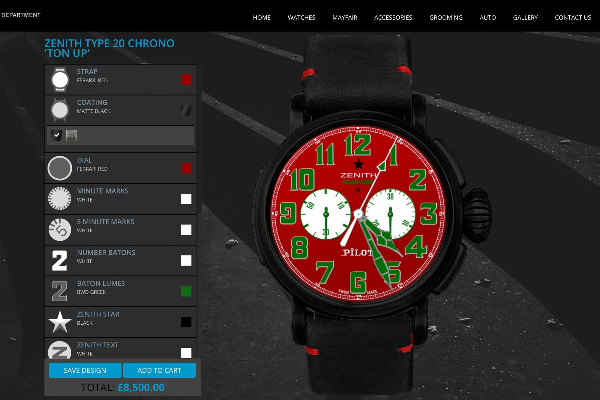 Zenith Pilot - Bamford - Personnalisation de montres BWD