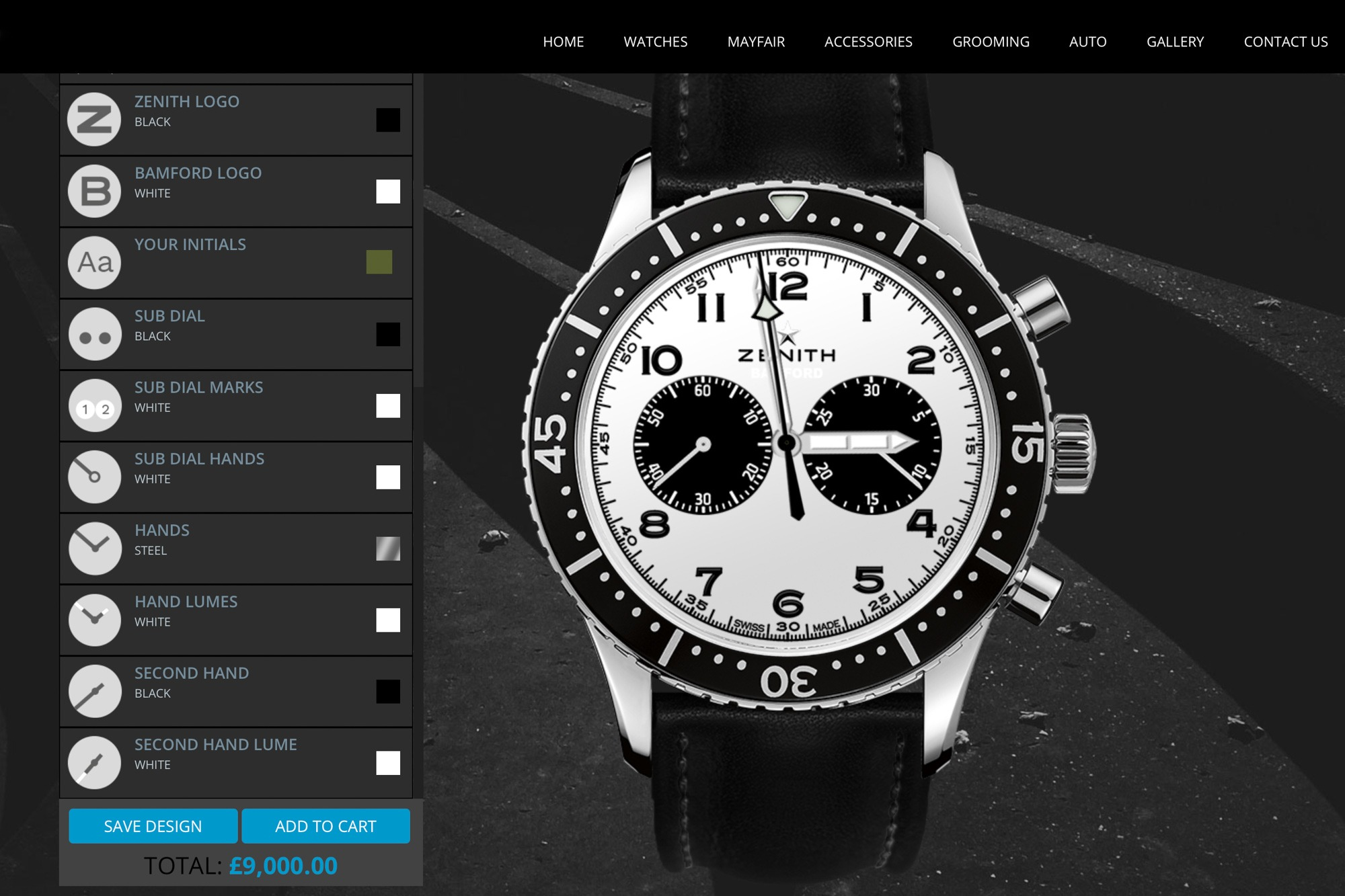 Zenith Chronograph - Bamford - Personnalisation de montres BWD