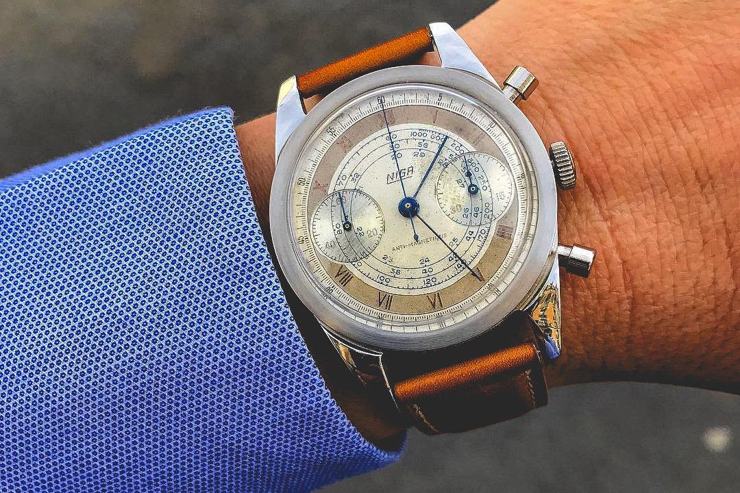 Chronographe Niga Circa 1950s - G.Gagnebin & Cie