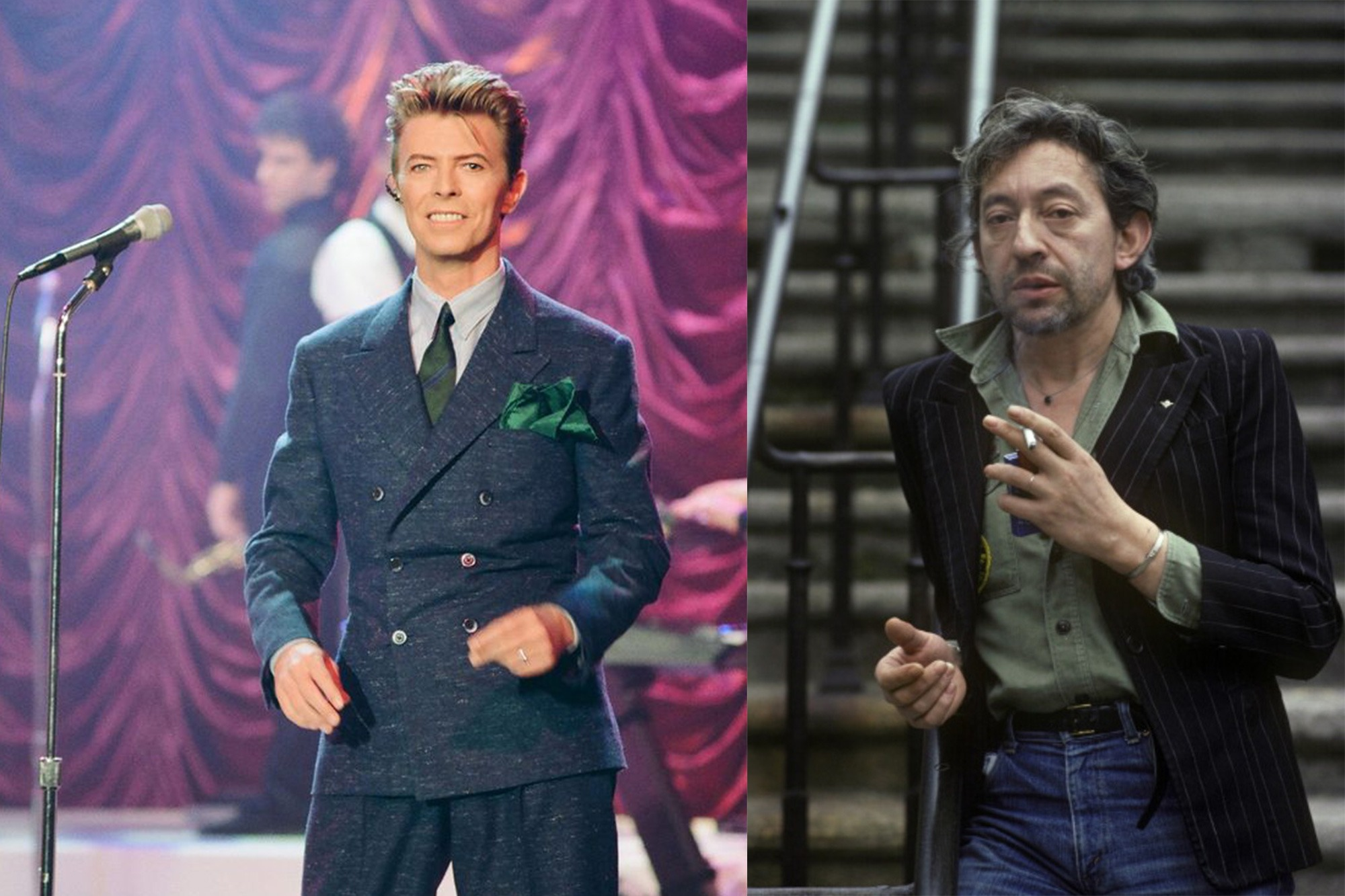 Icones de style Husbands - David Bowie et Serge Gainsbourg
