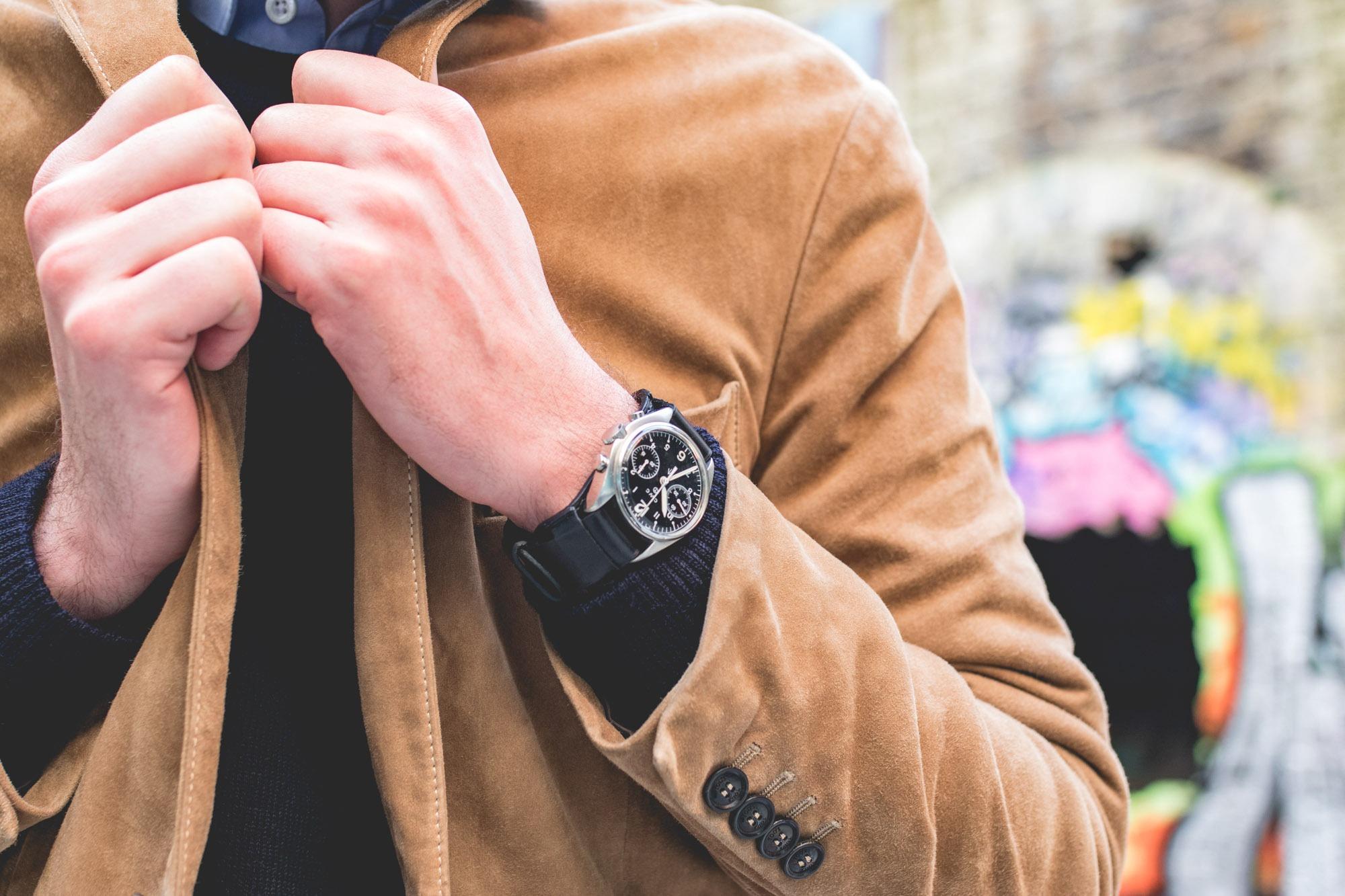 Joseph Bonnie - Bracelet de montre type Bund - CWC 1970 Chronograph